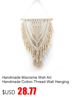 Small Handmade Macrame Wall Art Cotton Thread Wall Hanging Tapestry Bohemian Rope Pots Holder Hemp Rope Net Wall Decorations 7