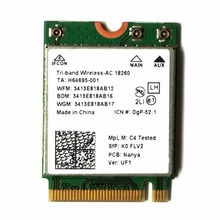 Wireless-AC 18260 802.11ac 1200Mbps Mini PCi Express M2 NGFF WiFi Adapter + Bluetooth 4.2 for Intel 18260NGW Windows 7/8.1/10(China)