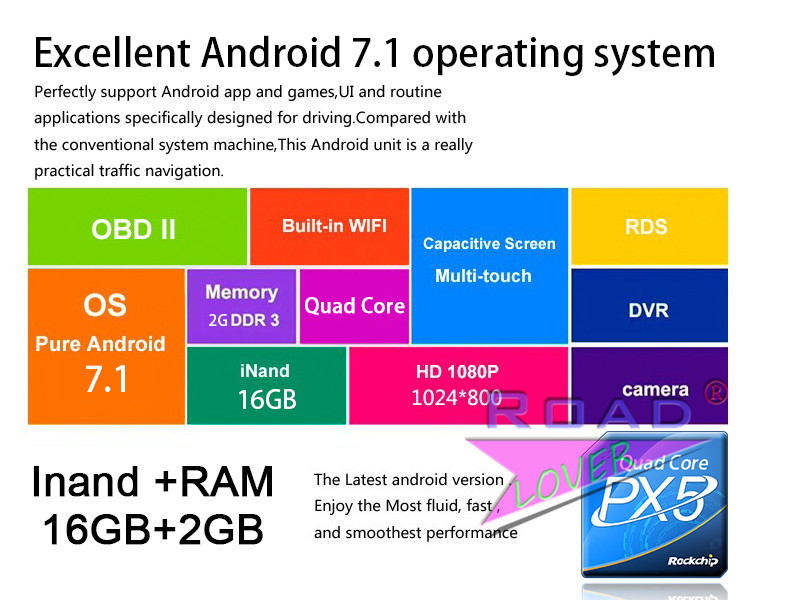 android 7.1 2g 16gb px5 Quad_