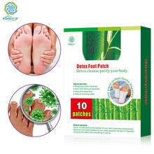 KONGDY Health Care 10 Pieces=Box Bamboo Vinegar Detox Foot Patch Adhesive Detox Foot Pads Improve Sleep Quality Beauty Plaster(China)