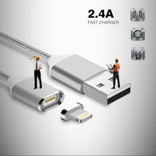 Magnetic Cable Nylon Braided Micro USB Magnectic Cable Data Charge Cable Magnet Fast Charging Cable For Xiaomi Samsung Android