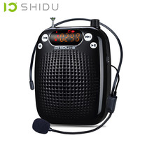 SHIDU S328 Teacher mini portable speaker microphone amplifier passive tour audio speakers megaphone radio speaker  wireless FM