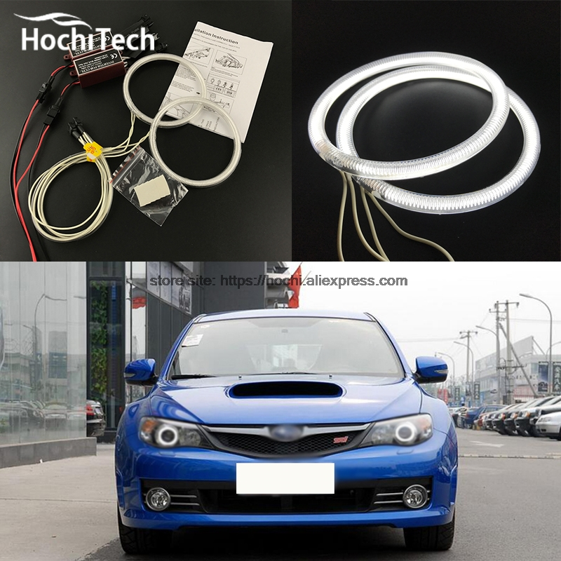 HochiTech ccfl angel eyes kit white 6000k ccfl halo rings headlight for Subaru Impreza WRX STI 2007 2008 2009 2010 2011<br><br>Aliexpress