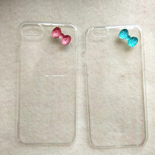 For iphone 7plus Case 3D Crystal Bling Bowknot Hard Cover for iphone 7 6 s 6s plus 6plus 5 5s se Cell Phone Cases Simple