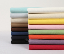 1 Yard Candy colors solid color linen cotton fabric for sewing,garment accessories(ss-4488)