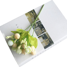 Artificial Rose Flower Buds Scrapbooking Fake Flowers Bouquet Silk Plastic Craft for DIY Party Wedding Decorative Flowers JK395(China)