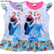 SAILEROAD cheapest price new summer girls dress Girls Party Kids Formal Dress cotton baby kids girls mini dress girls clothes