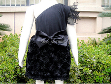 Dresses For Children Baby Girls Princess Dress Kids  Black Rosette Evening Dress for baby kids KP-EDS06