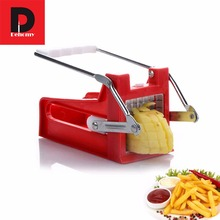 Manual French Fry Cutters Stainless Steel Potato Cutter Maker Slicer Chopper Home Cooking Tools Gadget Kitchen accessory(China)