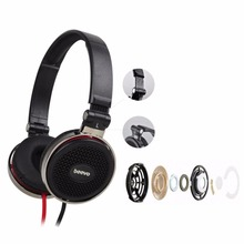 Headband Foldable Wired Headphone Headset Earphone w/ Mic For Cell Phone Call PC