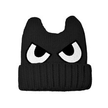 Winter Warm Child Baby Kids Monsters Horns Eyes Cap Boys Girls Knit Crochet Hat Fit For 2-5Y M2(China)