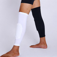 Best Price 1Pc Breathable Sports Men Honeycomb Long Knee Support Brace Pad Protector Sport Basketball Leg Sleeve Sports Kneepad