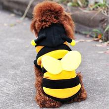 Buy dogs pets clothing clothes Cute Fleece Bumble Bee Lovely Wings Dog Cat Pet Costume Apparel Clothes Coat for $6.29 in AliExpress store