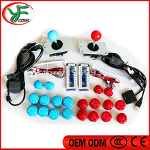 PC /PS2 / PS3 3 in 1 USB Controller copy sanwa Joystick 30mm 24mm Push Buttons for 2 players jamma arcade joystick DIY kit(China)