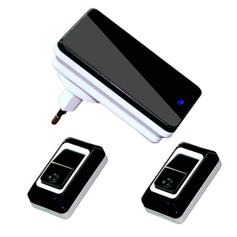 New Arrival Deurbel Waterproof Black Doorbell EU Plug-in 220V Digital LED 28 Music Tune Melody Wireless Doorbell Door Bell<br><br>Aliexpress
