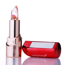 1PC Flowers Lipsticks Red tube Nutritious Change Color Temperature Jelly Flower Lip Stick Lipstick Lip Care Gloss Makeup Blam(China)