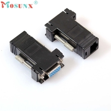 Best Signal Quality  1 Pcs VGA Extender Male Female to LAN RJ45 CAT5 CAT6 Network Cable Adapter U0308