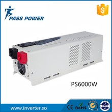Manufacturer Direct Selling Black and wihite dc to ac low frequency sine wave off PV solar inverter 6000w 24v 230v