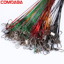 20Pcs Fly Fishing lead Line Leader Wire leading line Assortment Sleeve Swivel Stainless Steel Rolling Swivels 16/18/22/24/28cm