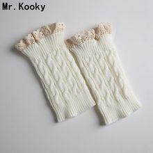 Mr.Kooky Hot New Design Winter Lace Knitted Boot Toppers Cuffs Leg Warmers For Women Girls Fashion Crochet Sock Accessories Gift
