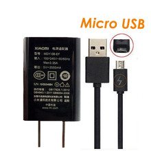 Travel Charger 1Ports USB 5V 2A Chargers US/EU Plug Adapter +Micro USB 2A Cable for xiomi Xiaomi Mi1/2/3/4 RedMi Note 2/Note 3 4