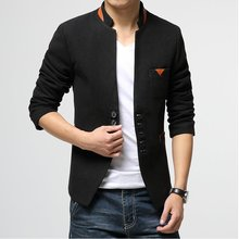 2017 New Korean Men Blazer Fashion Brand Slim Fit Mens Jacket Blazer Men's Small Suit Dress Gray Black Terno Masculino Blazer