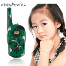Abbyfrank 2Pcs Camouflage Walkie Talkie Toy Interphone Intercom Electronic Conan Portable Two-Way Radio Set Spy Gadgets Children