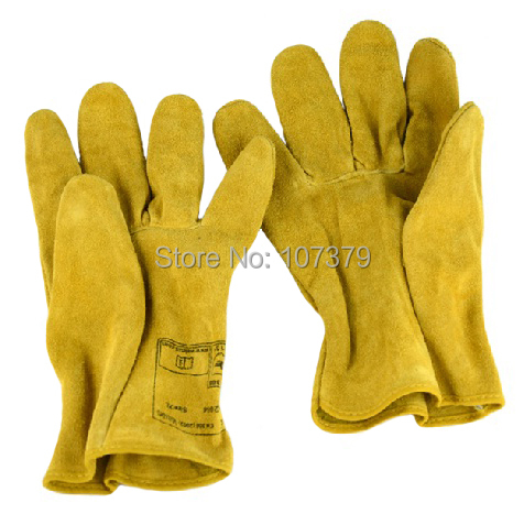 Leather Work Glove Deluxe Leather Driver Work Glove Cow Leather wear-resistant labor glove slip-resistant safety glove<br><br>Aliexpress