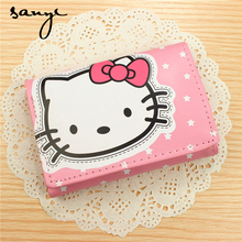 HELLO KITTY Purse PU Leather Purse Cartoon Cute Hello Kitty