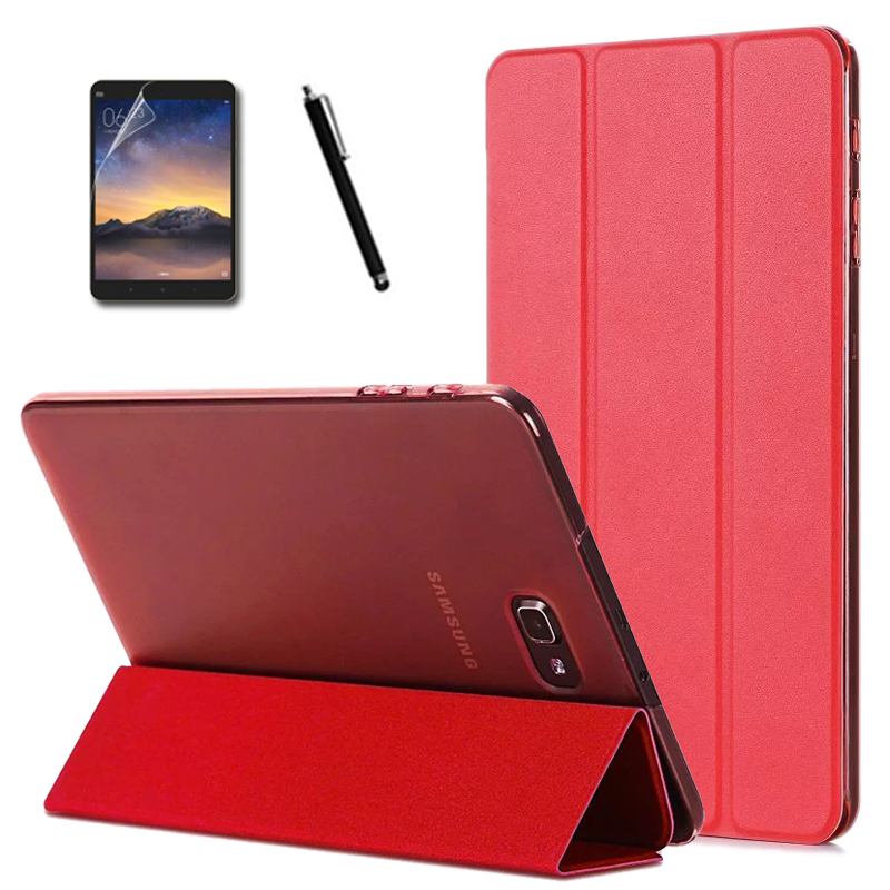 Samsung Galaxy Tab 10.1 T580 T585 Tablet New Super Thin Slim Lightweight 3-Folding Folio Stand PU Leather Cover Case+Gift