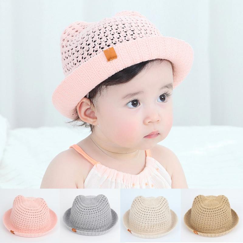 0-2 Y Girl Baby Outdoor Bonnet Beanie Cap Bucket Hats Summer Sun Beach Toddler