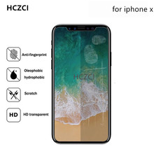 Hczci 3/pcs Lot Arc 0.26mm For iphone8 X  Tempered Glass Phone screen saver 2.5D 9H for iPhone8 8plus protective film