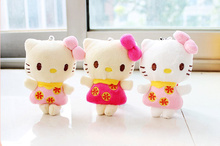 24pcs Sweet little 10cm hello kitty Mix Colors - Wedding bouquet Plush Toy , gift Little Small kitty toys(China)