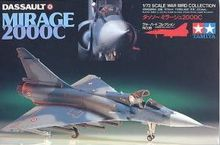 Tamiya assembled a model plane 60716 French Mirage fighter 2000C 1/72