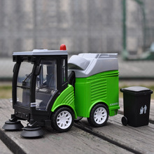 DIECAST MODEL TOYS SWEEPER TRUCK GARBAGE CLEANING VEHICLE REPLICA SOUND LIGHTS(China)