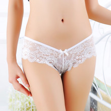 Buy Women G String Sexy Underwear Ladies Low-Rise Solid Transparent Briefs Lace Panties Thongs G-string Imitation Lingerie Underwear