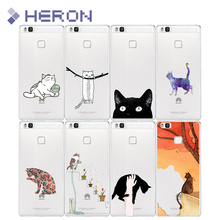 Soft TPU Cat Case For Huawei maimang 5 mate 8 9 Pro nova Enjoy 5S P8 P9 P10 Lite P9 P10 Plus with Back Cases Cover