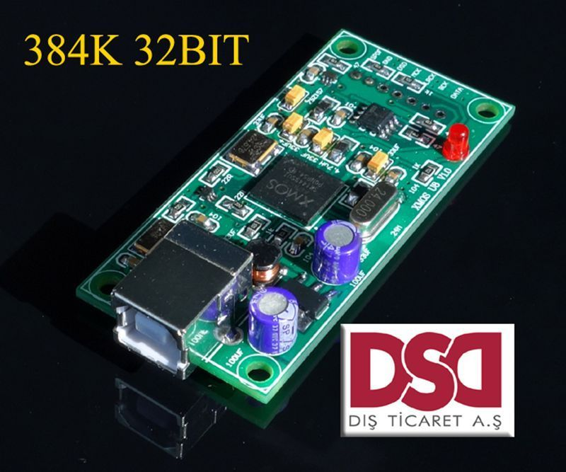 latest XMOS U8 USB 384K 32B module I2S SPDIF output,support DSD for es9018 DAC A8-008(China (Mainland))