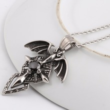 60cm Length Chain Vintage 316L Stainless Steel Whistle Pendants Necklaces For Men