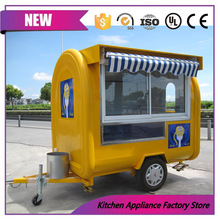Promotion China supplier 2.2m street food cart mobile ice cream trucks for sale(China)