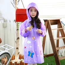 Top Sale Kids Raincoat Girls Boys Rainwear Children Multifunctional Waterproof Rainsuit Double Brim Children Rain Coat