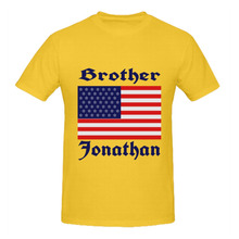 RTTMALL Retro Good Feeling T-shirt Cotton Brother Jonathan USA FLAG Personized Men's T shirt Casual Printing Counrty Men t-shirt(China)