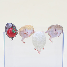 8pcs/set 3-4cm Cute Animals Hedgehog Shape Toys Doll For Mug Cup Tea Bag Holder Tea Tools OPP Action & Toy Figures kids gifts