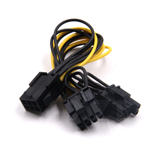 10pcs/lot  PCI-e GPU VGA Splitter Power Cable 6-pin PCI Express to 2 x PCIe 8 (6+2) pin Motherboard Graphics Video Card