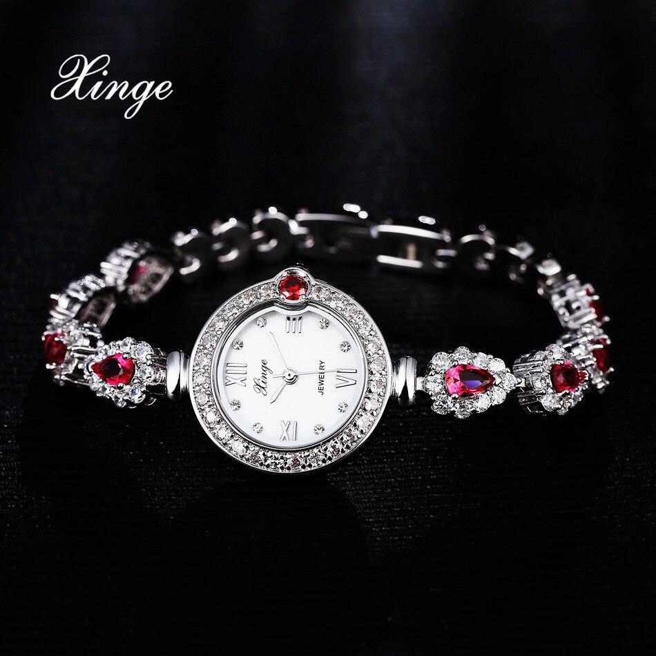 Xinge Brand 3A Zircon Women Dress Watch Luxury Bracelet Water Resistant Wristwatch Ladies Fashion Classic Quartz Watch<br>