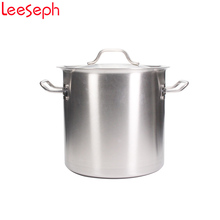 20*20cm Stainless Steel Soup Pot, Stockpot with Cover, Good Grip Handle, Classic Looks, Professional Performance