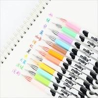 1 pc/lot 12 Colors Gel pens Diamond Full Needle Creative Simple Water-based Pen Stationery Office School Supplies Neutral Pen