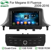 "1024*600 Octa Core Android 6.0 2GB RAM Car DVD Player For 7"" RENAULT Megane II/Fluence 2009-2011 GPS Navigation Head Units 4G(China)"
