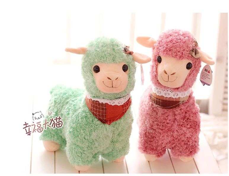Special cute 1pc 35cm plush little alpaca creative sheep doll toy hold pillow three colors choose children novelty gift for girl<br><br>Aliexpress