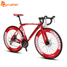 Cyrusher XC700 Sports Racing Road Bicycle 14 Speeds 700C 54/56CM Light Aluminum Frame Pro Mens Road Bike Mechanical Disc Brakes(China)